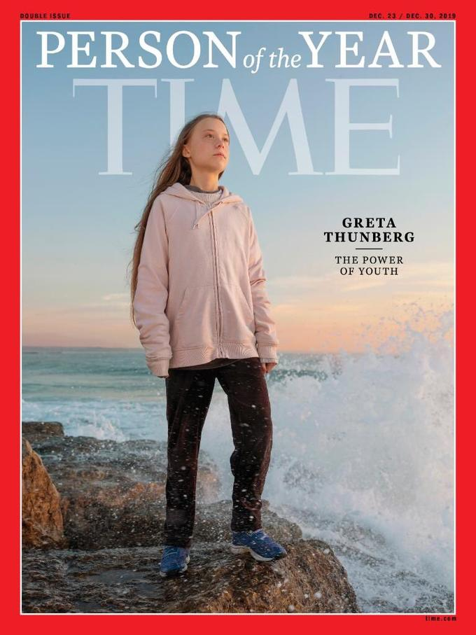 DEC. 23 / DEC. 30, 2019 DOUBLE ISSUE PERSONof the YEAR GRETA THUNBERG THE POWER OF YOUTH time.com Greta Thunberg Magazine Poster Outerwear