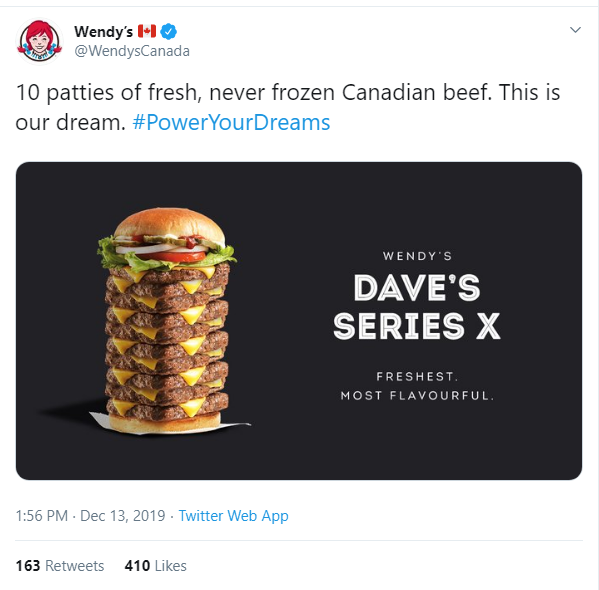 Imitation Is The Sincerest Form Of Flattery Wendy S Canada