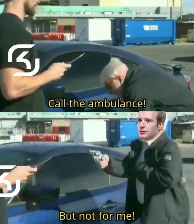 Call An Ambulance But Not For Me Know Your Meme The injured person may not have to pay, but someone will. call an ambulance but not for me know