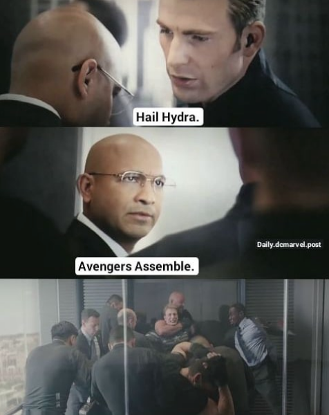Captain America Elevator Fight Dad Joke Know Your Meme