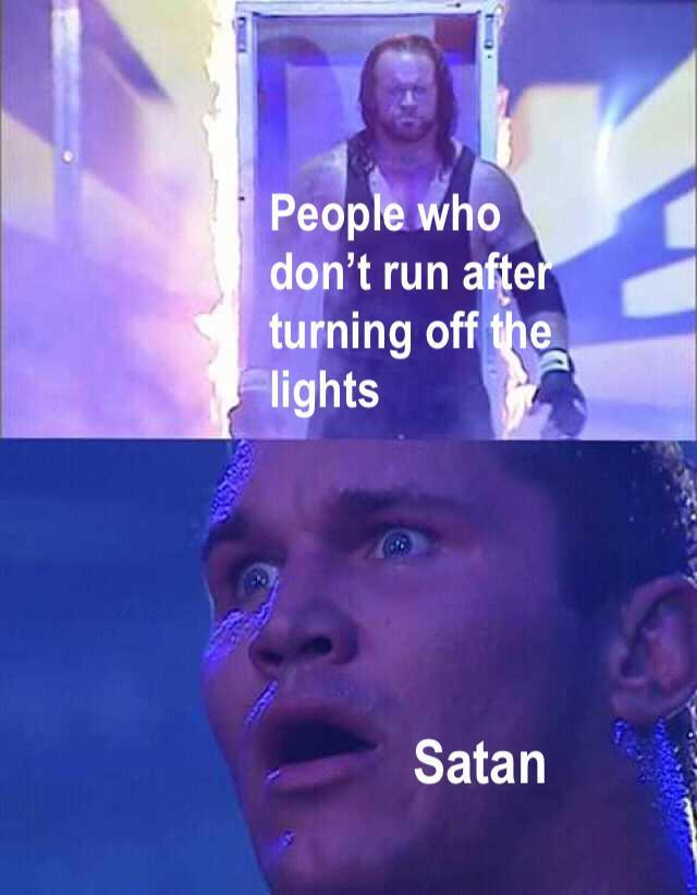 People who don't run after turning off the lights Satan Kendrick Lamar Text Forehead