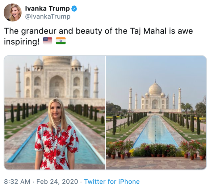 Ivanka S Taj Mahal Trip Know Your Meme