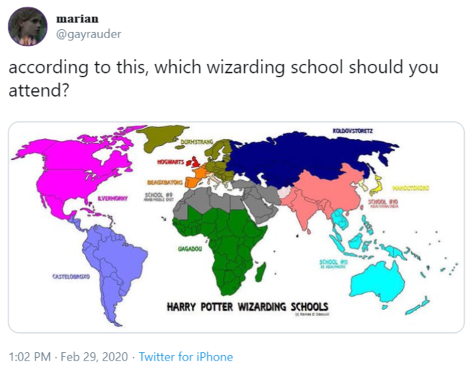 Wizarding Schools Map Know Your Meme When durmstrang institute and beauxbatons were introduced in gof, i believed they were just other european schools, beauxbatons being from france. wizarding schools map know your meme