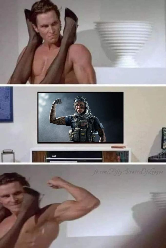 American Psycho Sex Scene Arm Flex Know Your Meme
