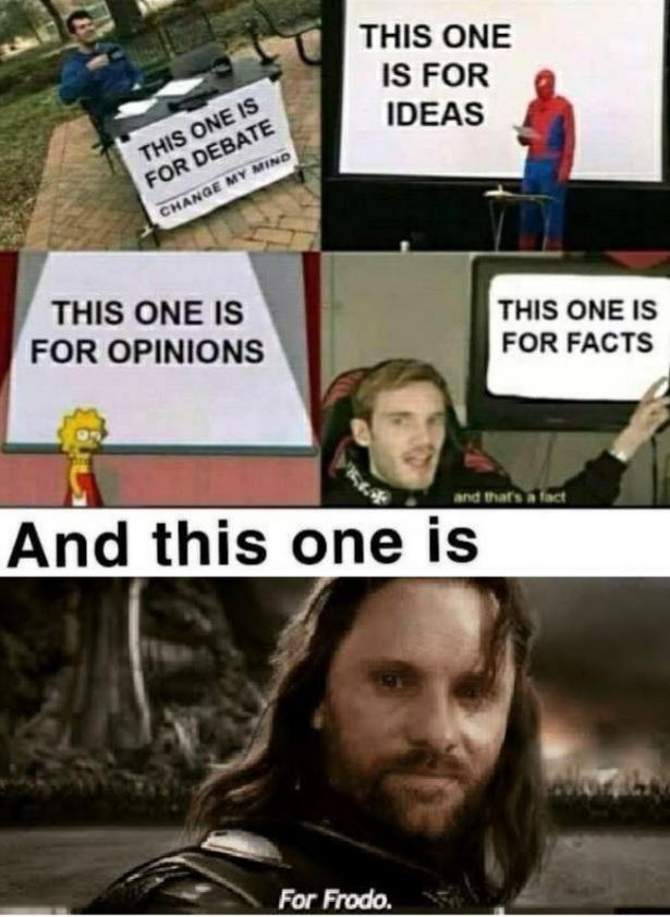 Aragorn S For Frodo Know Your Meme