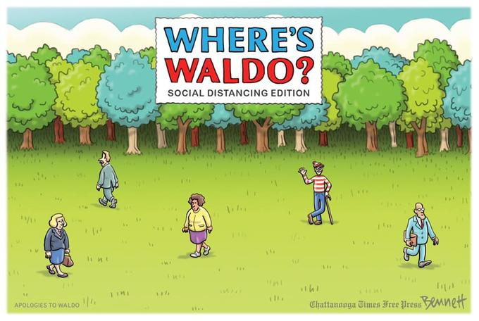 Waldo goes the distance | Social Distancing | Know Your Meme