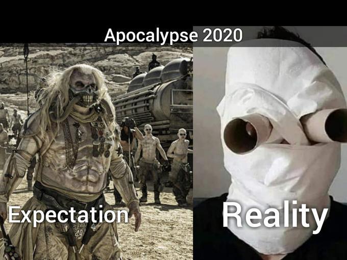 Coronavirus Apocalypse Outfits Expectations Vs Reality Know Your Meme
