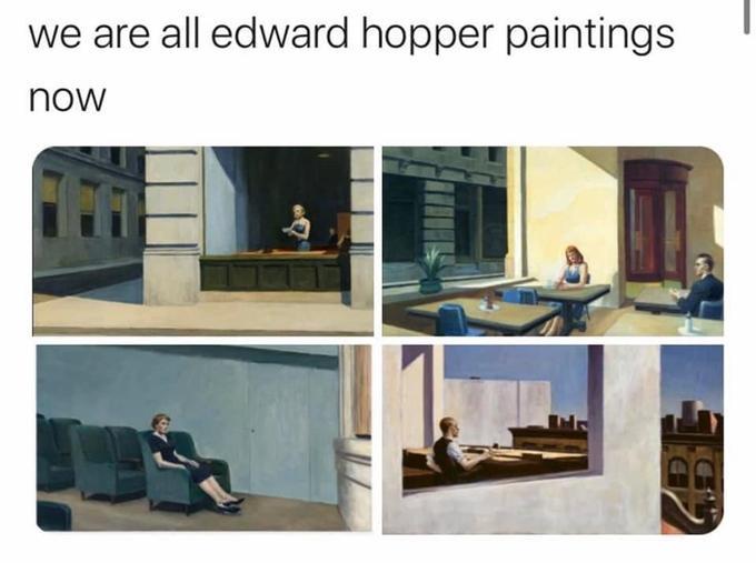 r/trippinthroughtime edward hopper | Know Your Meme