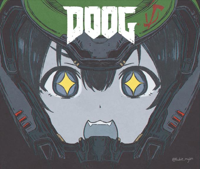 DOOG eKukie nyan Green Cartoon Fictional character Illustration Poster
