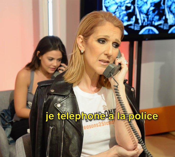 je teléphonela la police easons2Stand Celine Dion Leather Leather jacket Jacket Textile