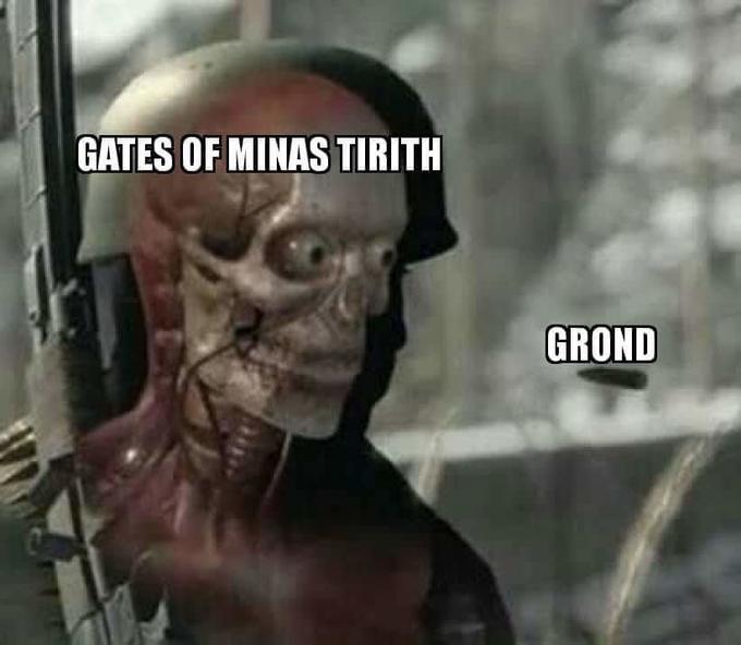 GATES OF MINAS TIRITH GROND Head Human Photo caption