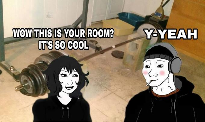 Y-YEAH WOW THIS IS YOUR ROOM? IT'S SO COOL Cartoon Animated cartoon