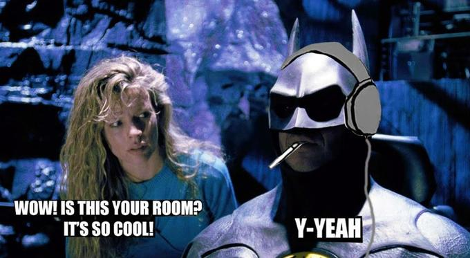 WOW! IS THIS YOUR ROOM? ITS SO COOL! Y-YEAH Batman Vicki Vale Fictional character