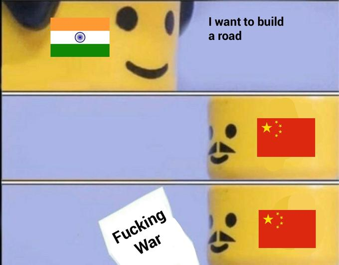 I want to build a road Fucking War Yellow Line