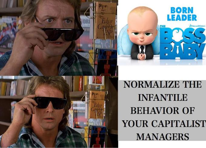 BORN LEADER DRI Edgr Can On ESP THE OSS BABY NORMALIZE THE INFANTILE Eden CO SP CAR DRI BEHAVIOR OF YOUR CAPITALIST MANAGERS KINO John Carpenter They Live Eyewear Glasses Cool Head Sunglasses