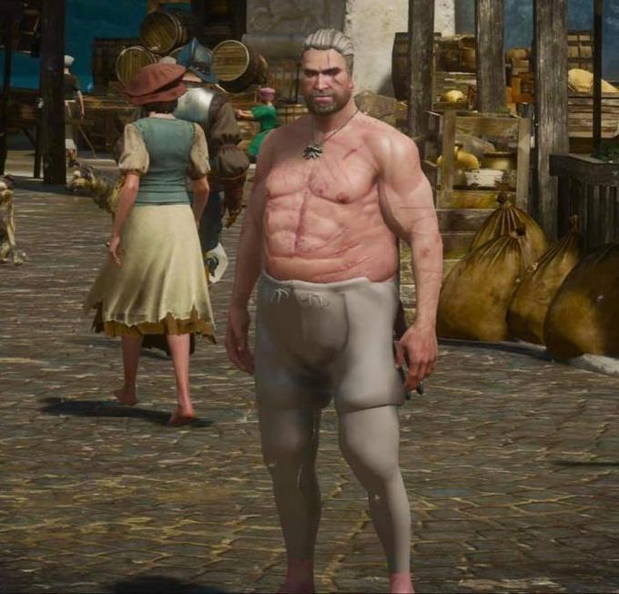 Geralt of Rivia Ciri Yennefer The Witcher 3: Wild Hunt Barechested