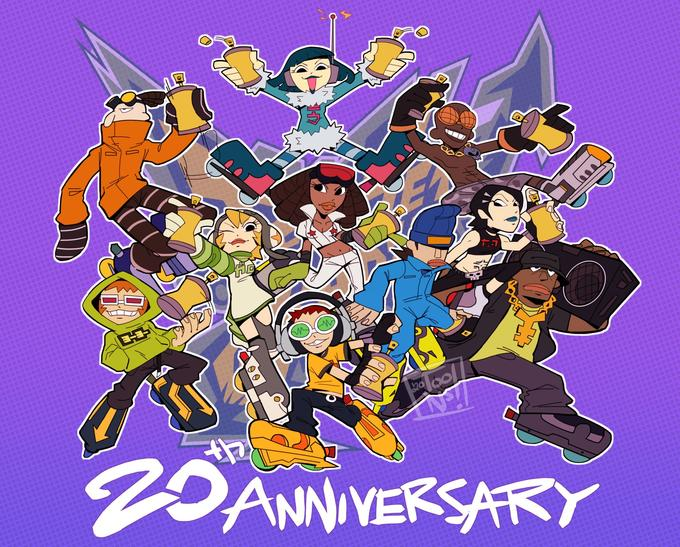 2DANNIVERSARY Cartoon Animated cartoon Poster Illustration Fictional character