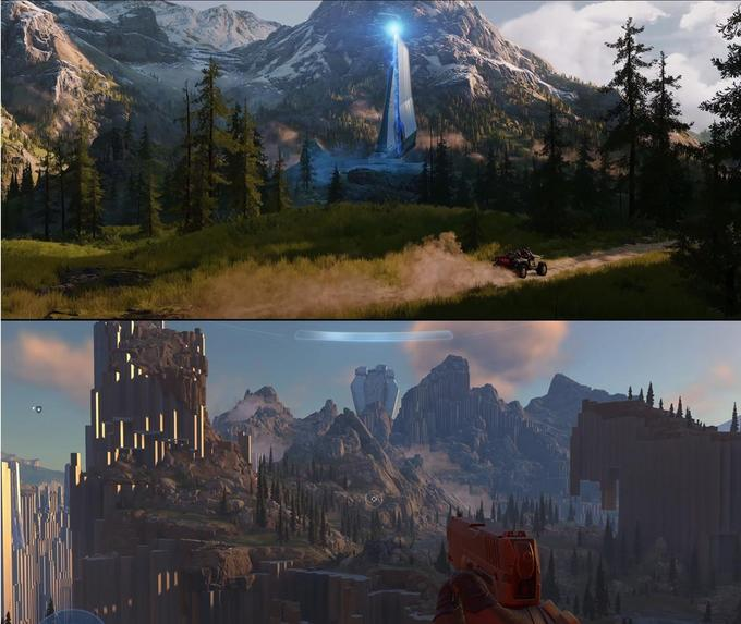 Halo Infinite Nature Natural landscape Landmark Mountainous landforms Mountain Wilderness Mountain range Sky World Biome