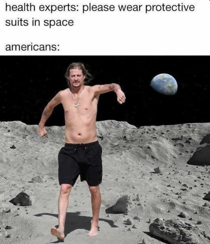 health experts: please wear protective suits in space americans: pretty Barechested Fun Beach volleyball