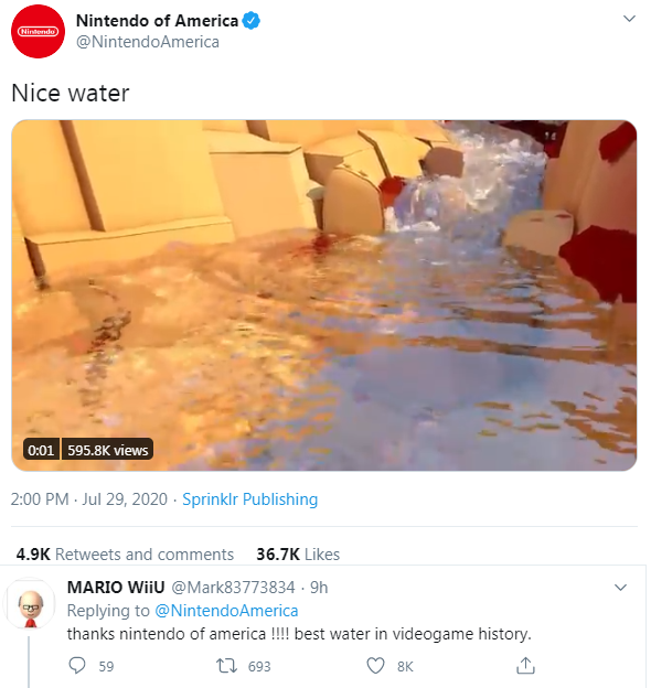 Nintendo Of America Twitter Referencing The Famous Nice Water Miiverse User And The Man Himself Responding Nintendo Know Your Meme It had the highest sales for any. famous nice water miiverse user
