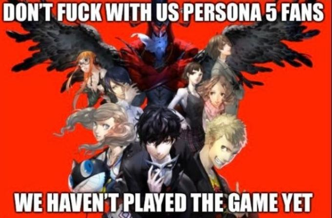 DON'T FUCK WITH US PERSONA 5 FANS WE HAVEN'T PLAYED THE GAME YET Persona 5 Persona 5 Royal Anime Cartoon Fictional character Poster Comics Movie