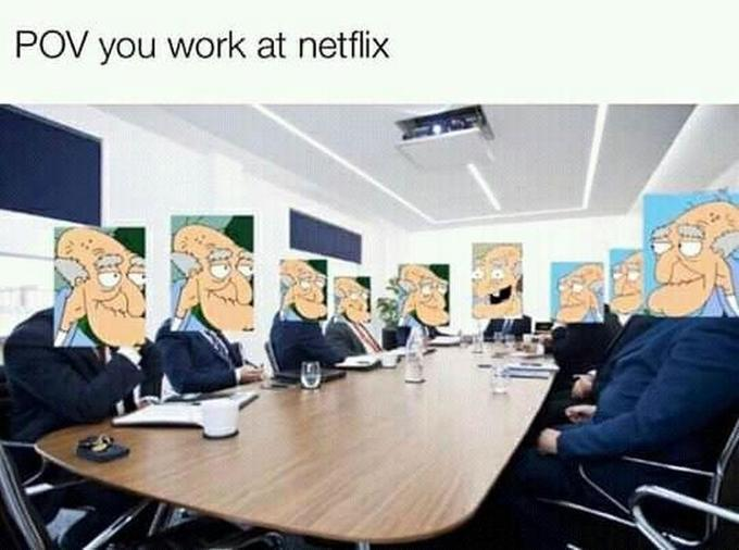POV you work at netflix SD