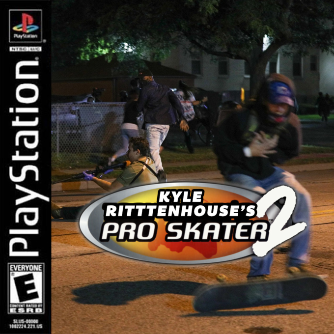 Payan KYLE RITTTENHOUSE'S PRO SKATER EVERYONE COMTENT RATR ESRB 1002224221.US PlayStation Monster Rancher Hop-A-Bout PlayStation Pc game