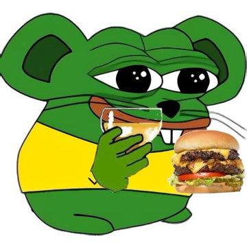 Cartoon Green Clip art Cheeseburger Hamburger Junk food Fast food Fictional character