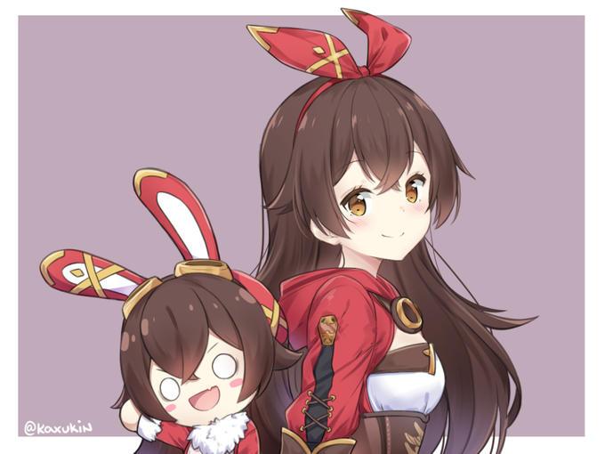 @Kaxukin Cartoon Anime Ear Long hair