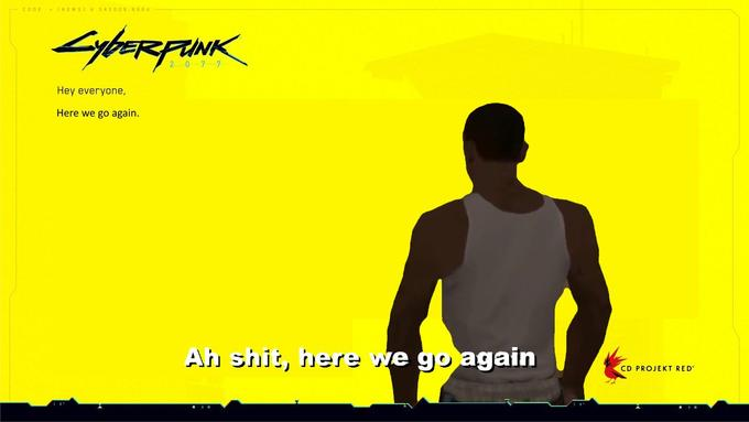 CODE (NEWS)A 345009.0604 Syborepank 2077 Hey everyone, Here we go again. Ah shit, here we go again CD PROJEKT RED Cyberpunk 2077 Yellow Text Font
