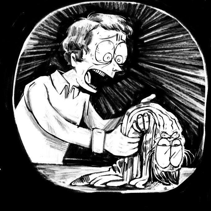 1B Art Cartoon Illustration Black-and-white