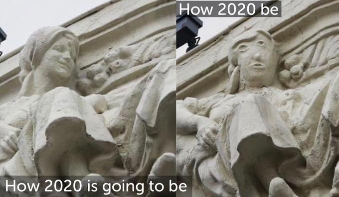 How 2020 be How 2020 is going to be Relief Classical sculpture Stone carving Statue Sculpture