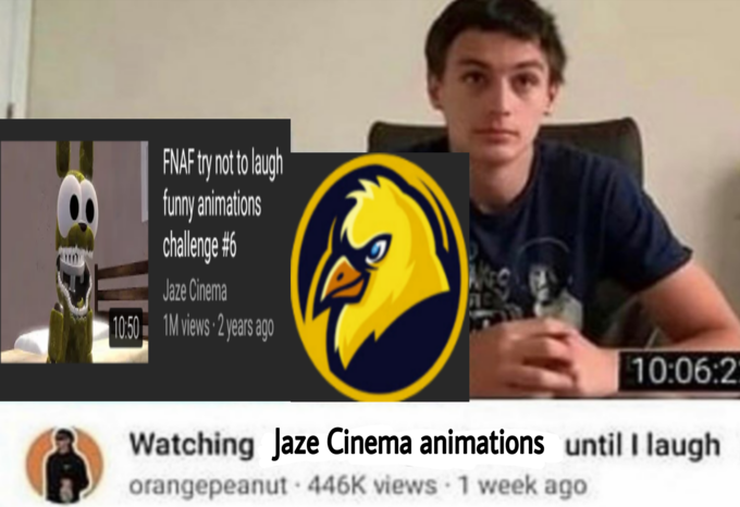 FNAF try not to laugh funny animations chalenge #6 Jaze Cinema 1050 1M views 2years ago 10:06:2 Watching Jaze Cinema animations until I laugh orangepeanut · 446K views 1 week ago Helmet Yellow Sports gear Personal protective equipment Footwear