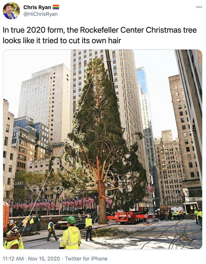 n4ra88zodmxufm https knowyourmeme com memes 2020 rockefeller center christmas tree photo