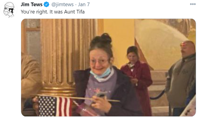 @jimtews · Jan 7 You're right. It was Aunt Tifa Jim Tews Samantha Power People Photograph Happy Community Facial expression Sharing Sitting Flag of the united states Snapshot Photography Conversation