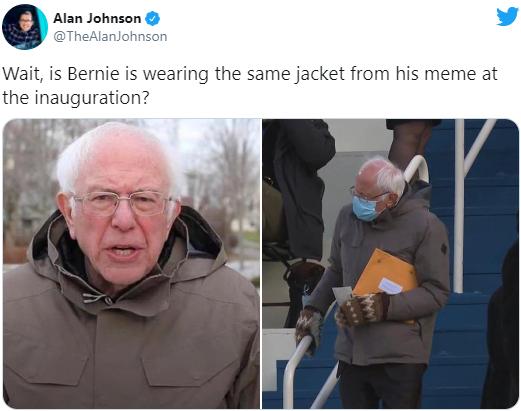 Biden Inauguration Bernie Sanders Meme Inauguration Of Joe Biden Know Your Meme