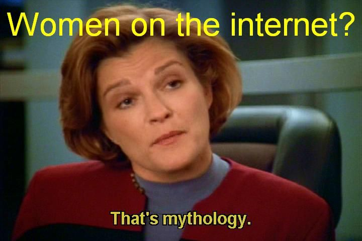 There are no women on the internet