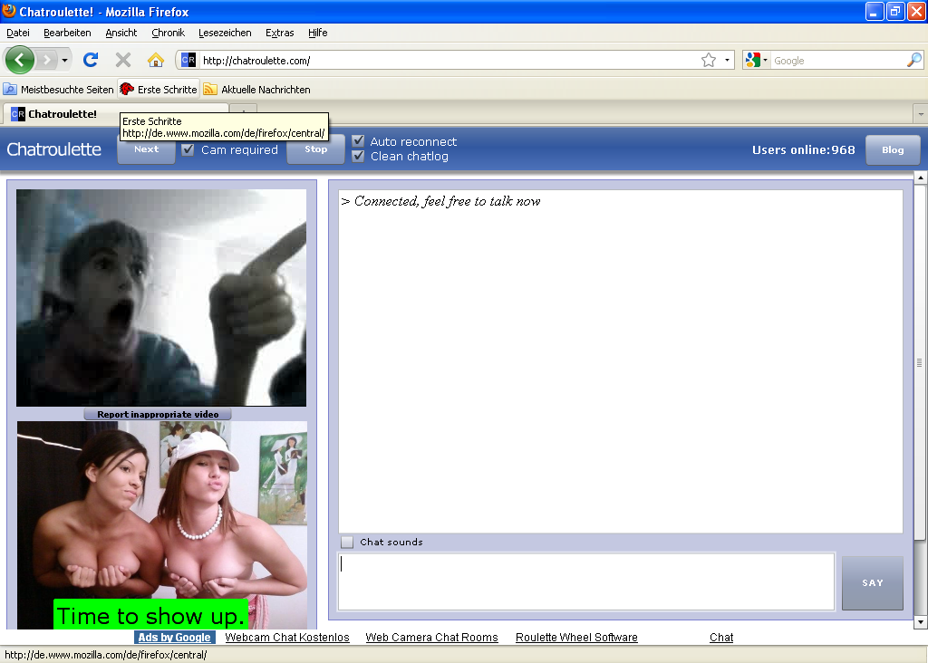 Free cam chat roulette