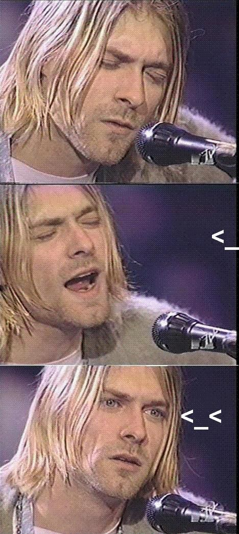 Image 33464 Kurt Cobain Reaction Know Your Meme
