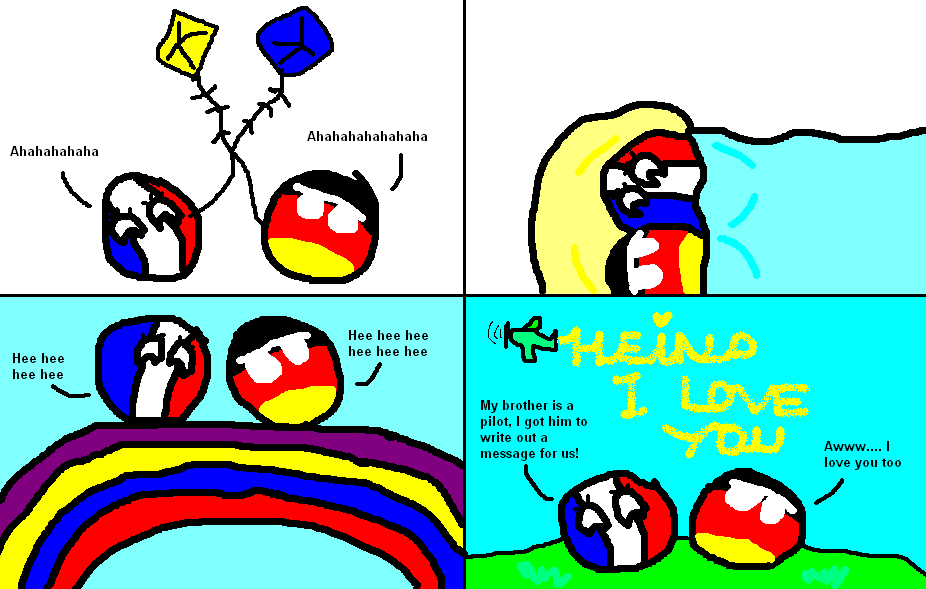 France And Germany Have A Day Out Polandball Know Your Meme
