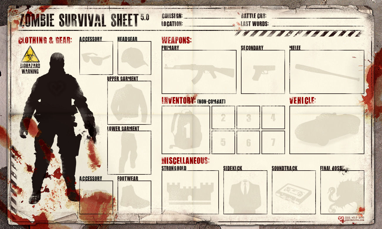 Image - 53332] | Zombie Tools/Zombie Survival Sheet | Know ...