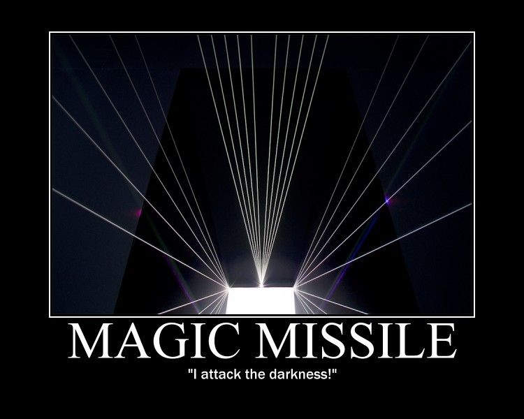 Magic missile into the darkness