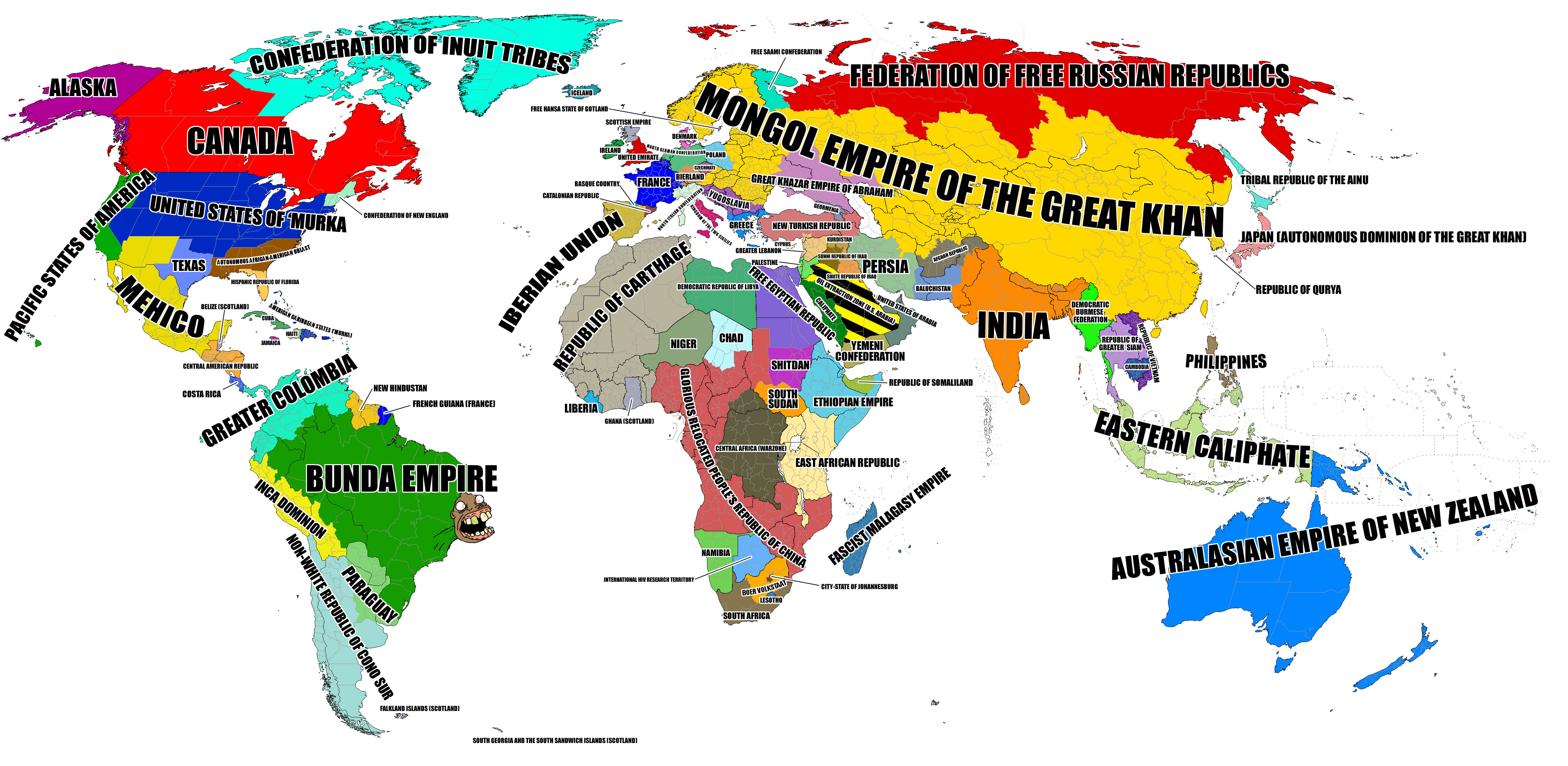 Image 150567 the world according to know your meme confederation of inuit federation of free russian republics alaska mongol iceland free hansa state of gotland gumiabroncs Choice Image