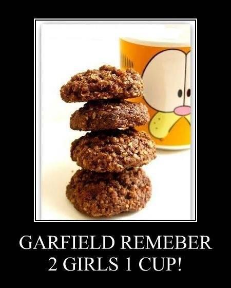 GARFIELD REMEBER 2 GIRLS 1 CUP