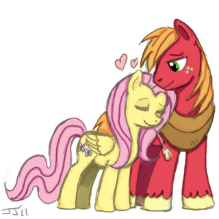 fluttershy and big mac my little pony friendship is magic know