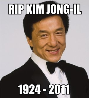Image result for rip kim jong il meme jackie chan