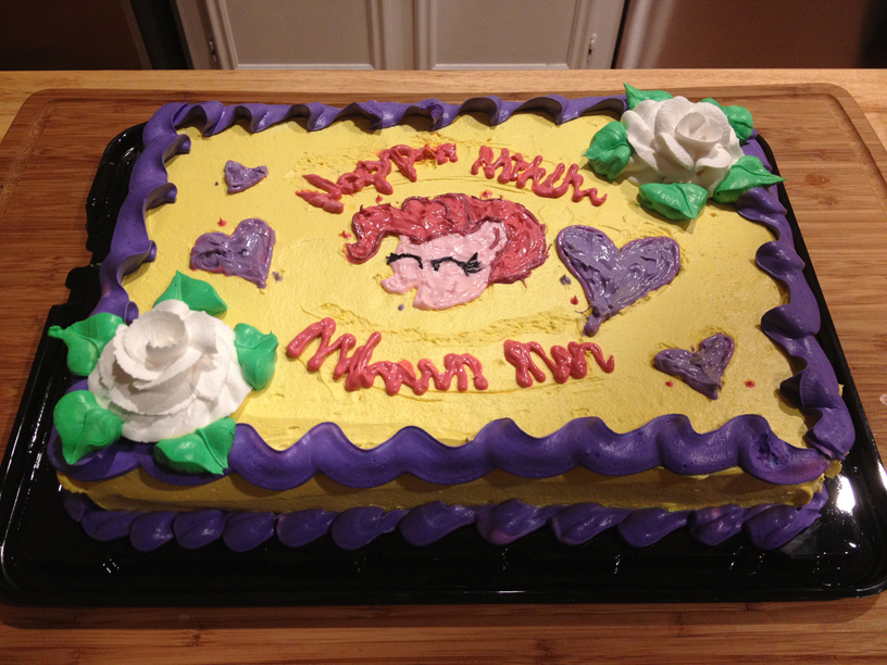 Birthday Cake Pinkie Pie Buttercream Decorating Torte Icing Dessert Sugar Paste Pasteles