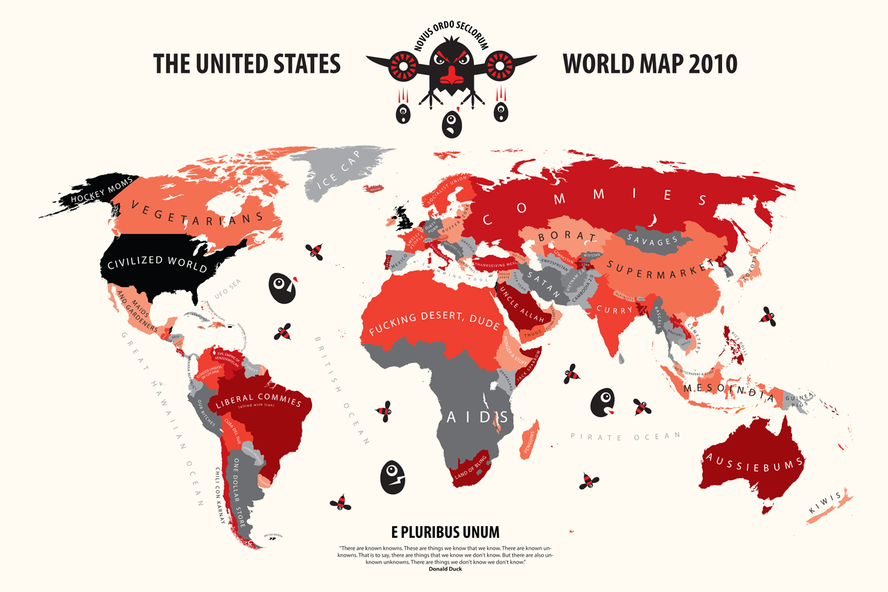 How America Sees The World Map.How Americans See The World Nationality Stereotypes Know Your Meme
