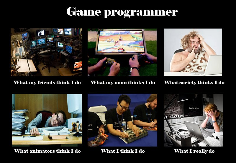 Image 250645 what people think i do what i really do know game programmer what my friends think i do what my mom thinks i do what society publicscrutiny Images