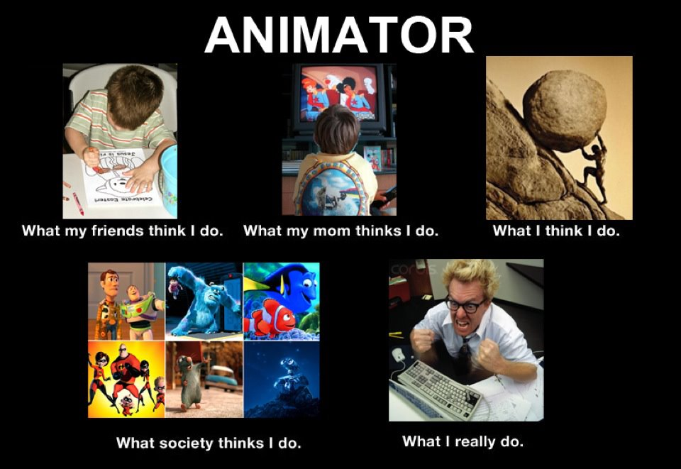 Image 251029 what people think i do what i really do know animator what my friends think i do what my mom thinks i do what publicscrutiny Images